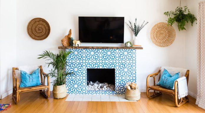 blue and white granada tile cement