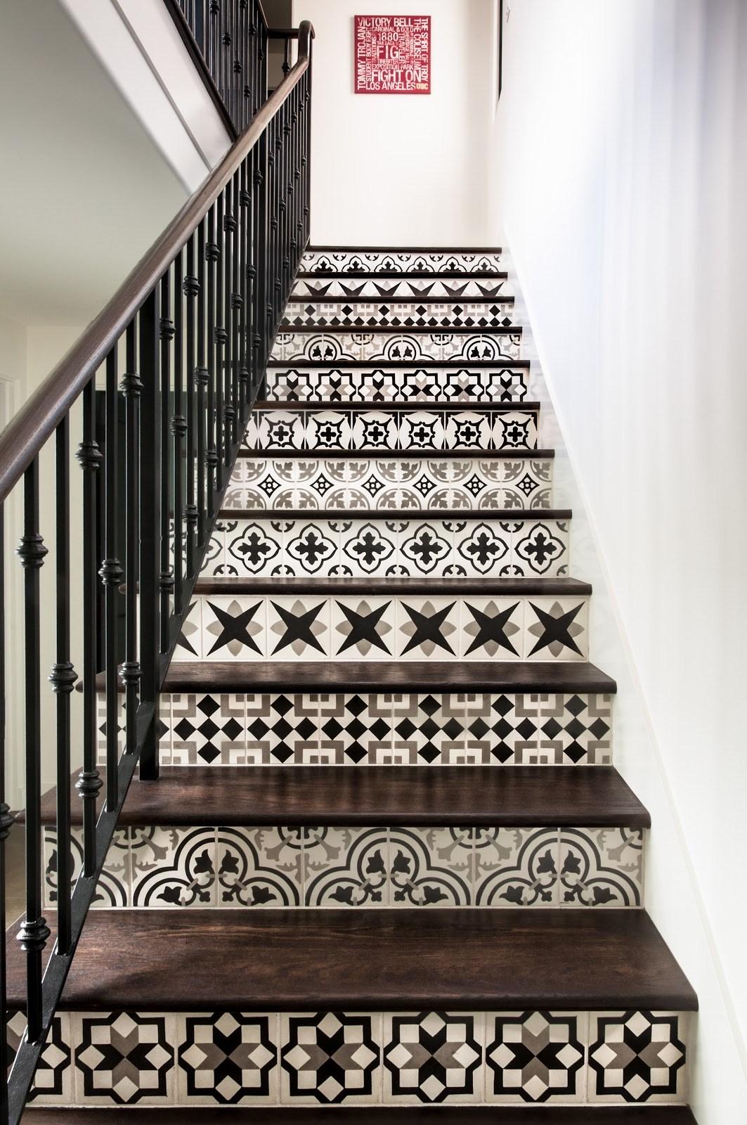 Gt Stair Riser Granada Tile Cement Tile Blog Tile   Stair Riser Tiles Designs