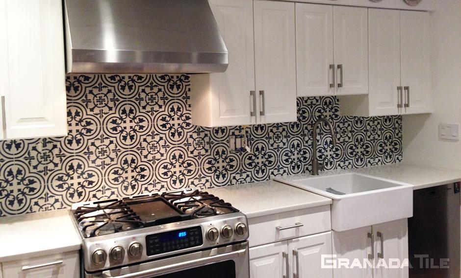 concrete tiles for kitchen backsplash