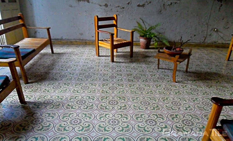 cuban style cement and concrete tiles