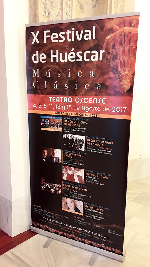 programa del Festival de Huéscar, Granada