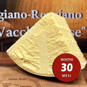 Parmigiano Reggiano vacche rosse Grana d'Oro stagionato 30 - 36 mesi porzionato