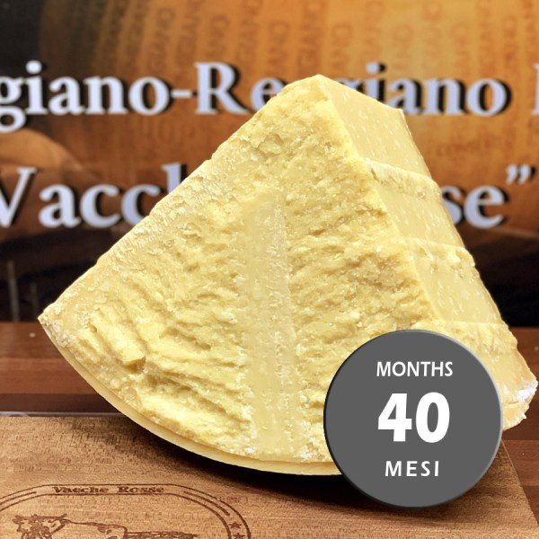 Parmigiano Reggiano vacche rosse Grana d'Oro stagionato 40 mesi porzionato