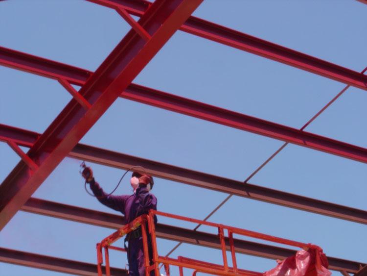 pintado de estructura metálica al exterior