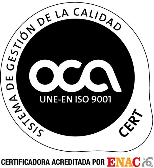 Granallados de Navarra dispone del certificado OCA en Sistema de Gestión de Calidad