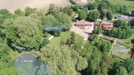 Vue aérienne légendée de Grand Bouy