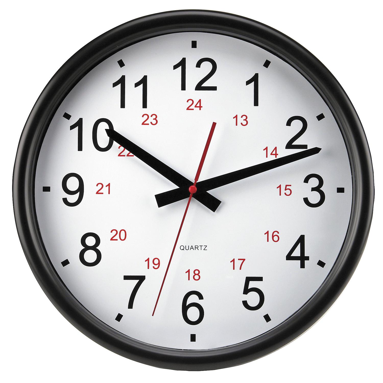 Timekeeper Round 14 24 Hr Wall Clock