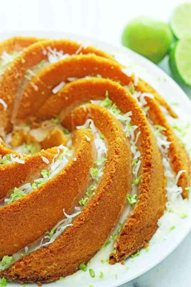 Key Lime Coconut Pound Cake   Grandbaby Cakes