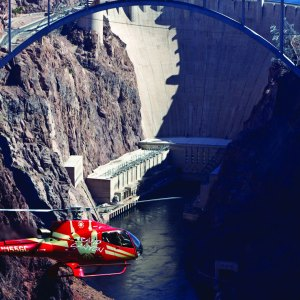 HOOVER DAM BUS AND HELICOPTER
