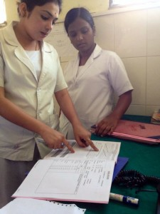 Nurses Interpreting a Partograph. Karnataka, India