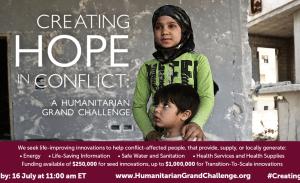 Humanitarian Grand Challenge - English Banner