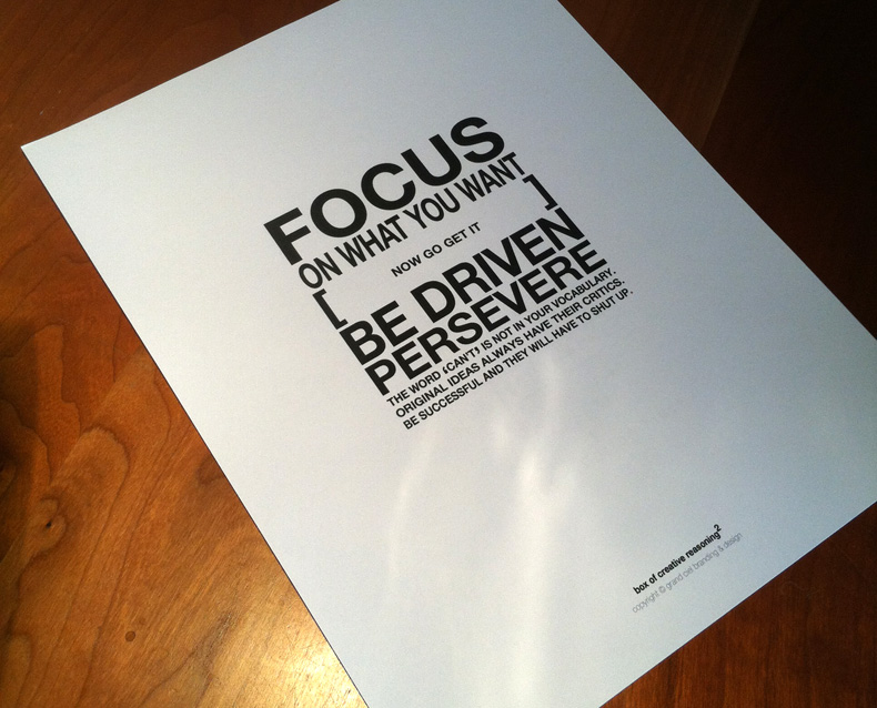 Focus On What You Want Poster Design