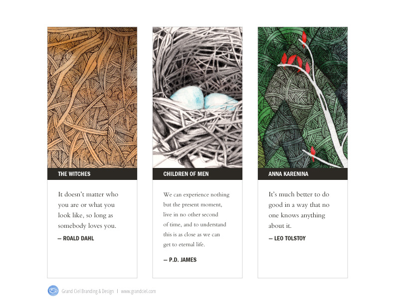 Grand Ciel Bookmark Designs Set 2