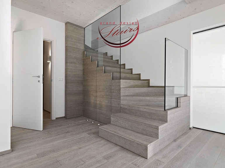 Stairs Flooring The Best Staircase Flooring Materials | Zig Zag Carpet On Stairs | American Style | Asymmetric Stair | Before And After | Navy Pattern | Grey