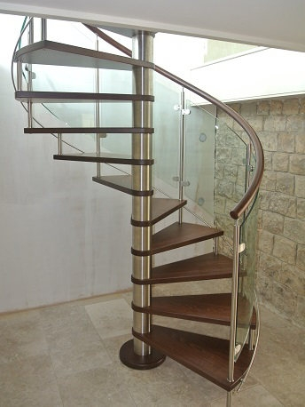 Curved Glass Stairs Modern Helical Crystal Staircases   Steel And Glass Staircase   Living   Wood   Contemporary   Old House   Glass Design Golden