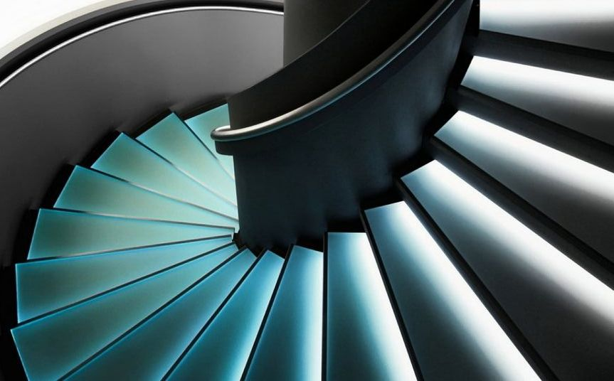 staircases lighting with led strips