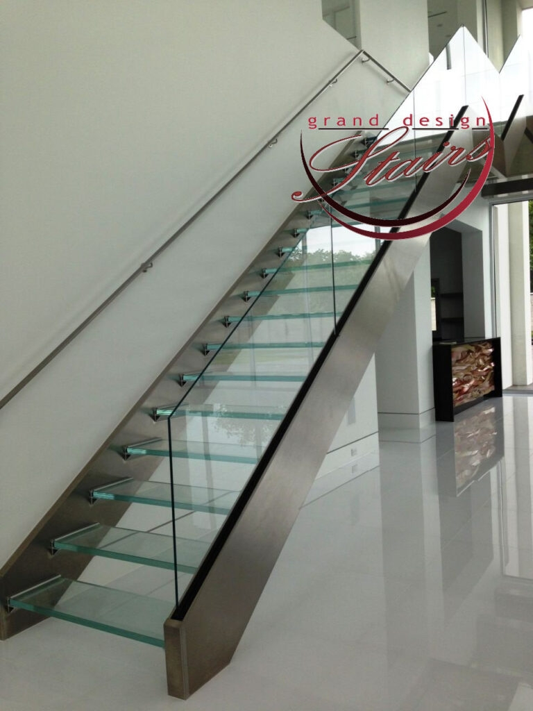 Glass Stairs Glass Steps Structural Glass Railings | Stainless Steel And Glass Staircase | Residential | New Fashion Glass | Architectural Glass | Galvanized Steel | High End Glass
