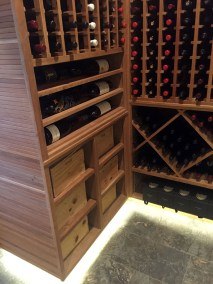 Wine Cellar Interior case storage