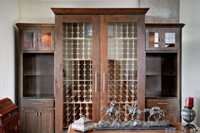 Large Wine Cabinet with side storage3