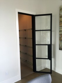 Metal Wine Room Door
