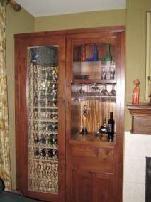Wine Cabinet with Side Storage