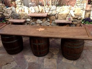 Texas Wine Barrel Bar
