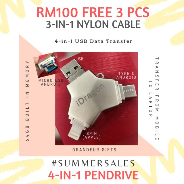 4in1-usb-build-in-memory-64gb-flash-drive-ios-lightning-typeC-microUSB-USB-android-apple-samsung-huawei-hp-dell-july-summer-sale-grandeur-gifts-malaysia-online-shopping-unique-gift-ideas
