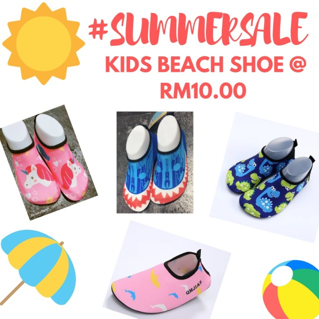 kids-beach-shoes-summer-seaside-birthday-running-shoes-baby-walking-shoes-harvey-norman-ikea-tools-july-summer-sale-grandeur-gifts-malaysia-online-shopping-unique-gift-ideas