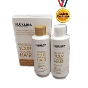 Luxliss Keratin Treatment Trial Set Deep Cleansing Keratin Kit 100ml x 100ml