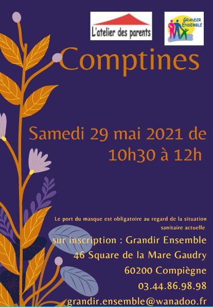 Comptines du 29 mai 2021