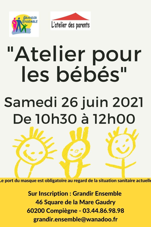 Atelier pour les bébés du 26 juin 2021