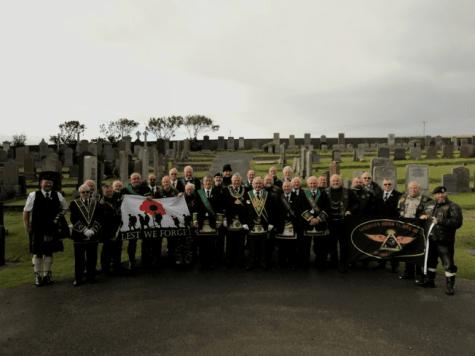 Brethren at St. Olaf's Cemetery
