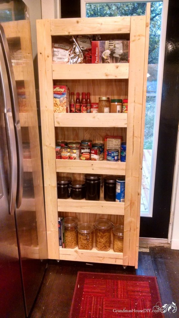 How To Build Your Own Rolling Pantry For Incredible Easy
