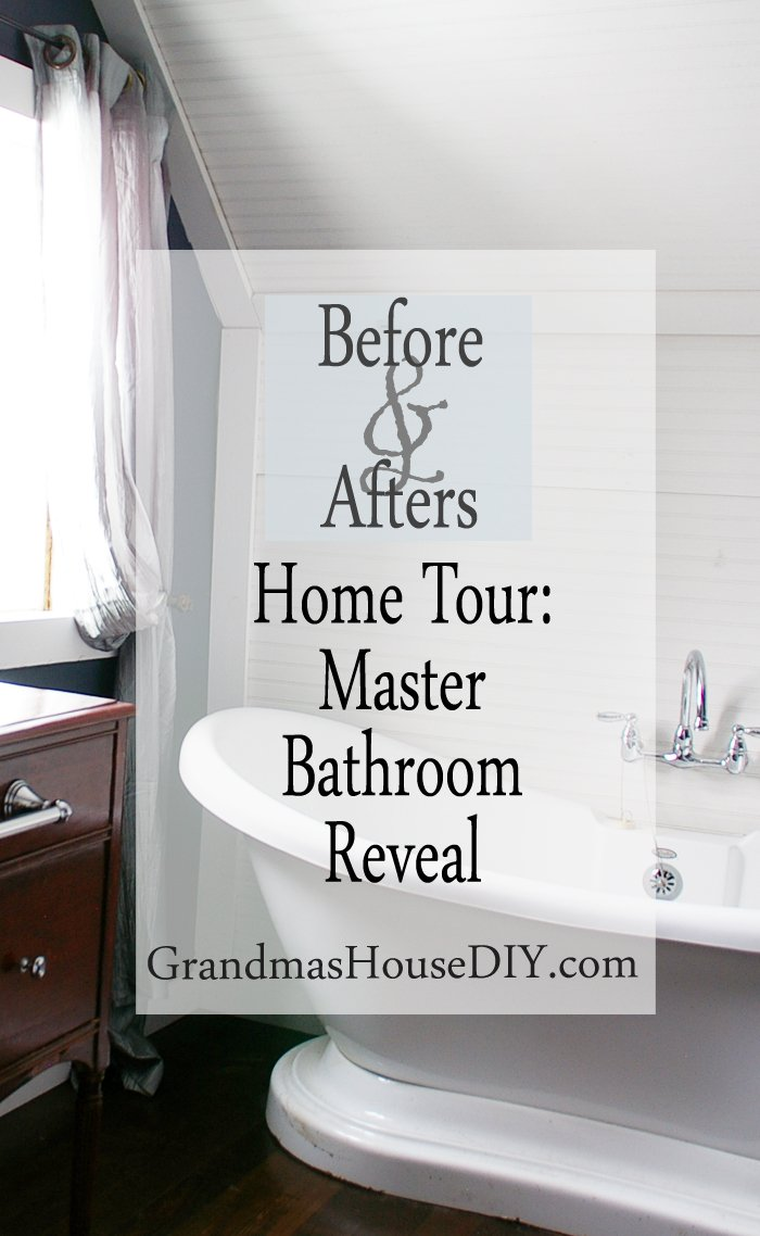 Home Tour: Master Bathroom Reveal by Grandma's House DIY