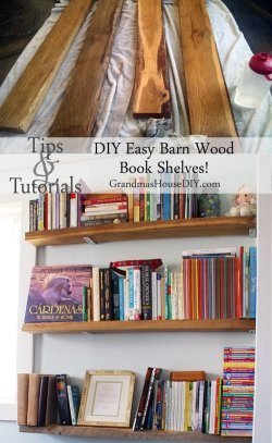 Country Mouse City Spouse Monday Mish Mash #39 Feature: DIY Easy Barn Wood Book Shelves @ Grandmas House DIY