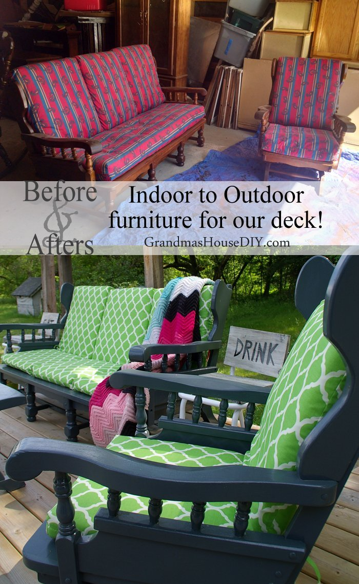 Indoor To Outdoor Furniture I Painted Until My Arm Fell
