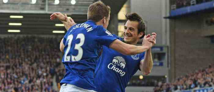 Leighton Baines and Seamus Coleman