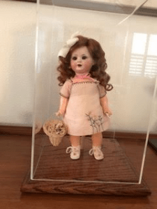 Antique doll display