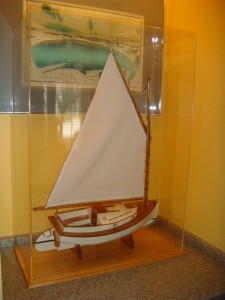 Crosby Cat Boat in Case by Don Avery