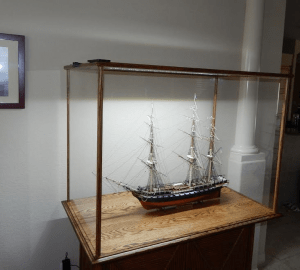 USS Constitution in kit with light