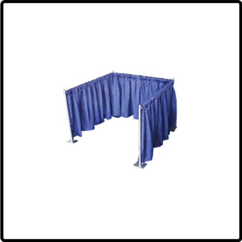 Pipe & Drape Booth, 8ft tall