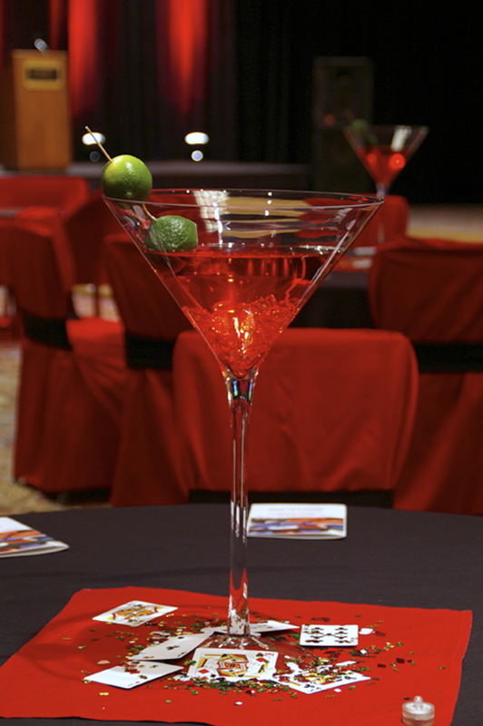 Centerpiece martini tall quot dia grand