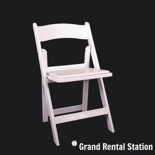 Wedding White Padded Folding Chair