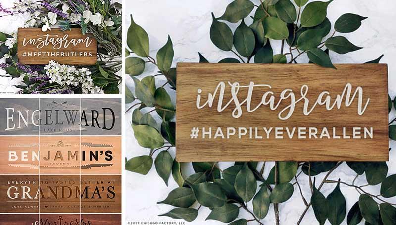instagram wedding signs