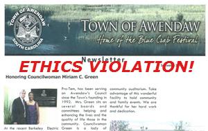 Awendaw Ethics Violation