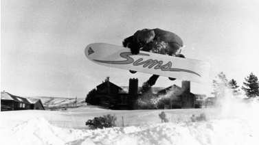 Barry launching a backside air out of Mark's Halfpipe in the foothills outside Idaho Falls, Idaho, 1987