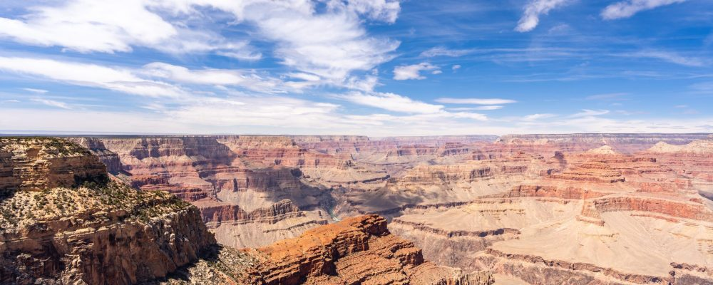 Grand Canyon Skywalk bus tours provide views like this of the canyon