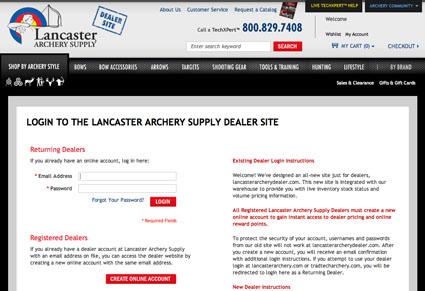 lancaster archery dealer site