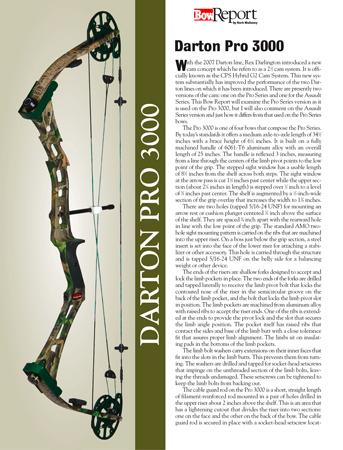 Darton Pro 300 Bow Report