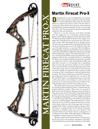 Martin Firecat Pro X Bow Report